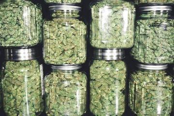 Bottles of weed